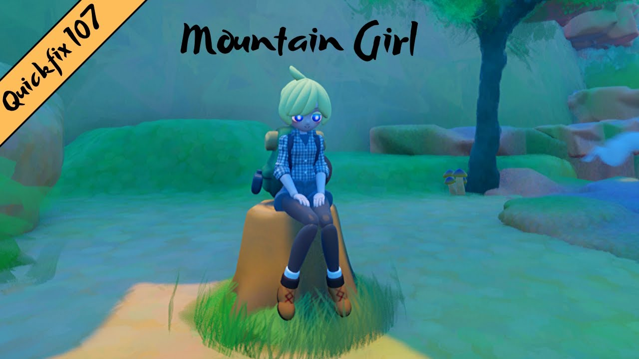 Dreams PS4: QuickFix 107 - INCREDIBLE Character Animations in Mountain Girl  [Dreams Early Access]