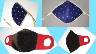 2 Perfact FACE Mask design how to sew face mask without elastic pattern 2021