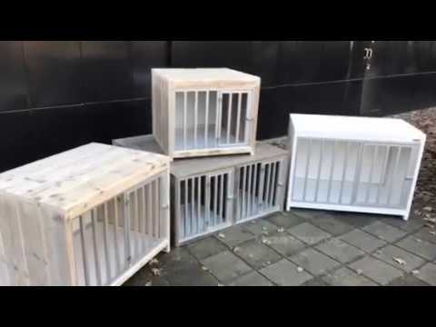 Ongekend Bench van steigerhout, de perfecte honden plek - YouTube IO-61