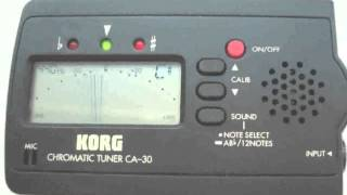korg guitar bass tuner ga 30 manual