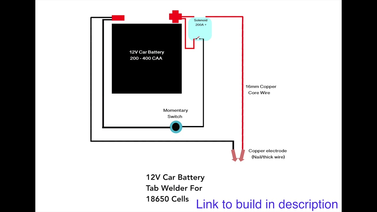 12v Car Battery Tab    Welder     YouTube