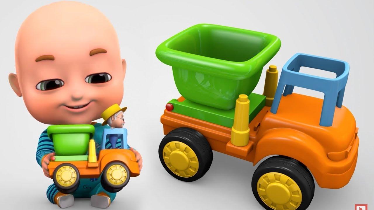Surprise Eggs Construction Truck Toys Part 2 For Kids