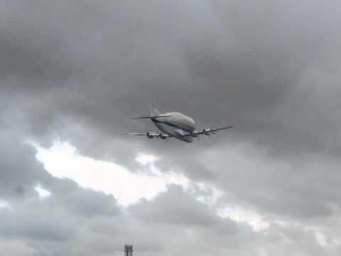 Paine Field Everett,  Washington~ NASA Super Guppy Flyby 6-30-2012