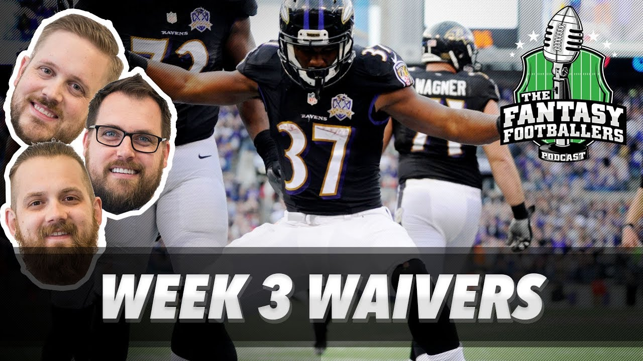 Fantasy Football 2017 - Week 3 Waivers, QB Streamers, Giant ...