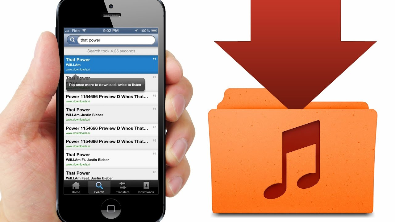 How to Download FREE MUSIC directly to iPod Library on