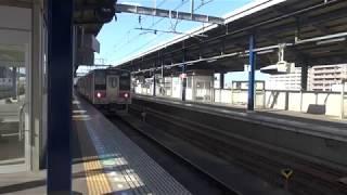 予讃線121系トップ編成 高松行き 坂出駅発車