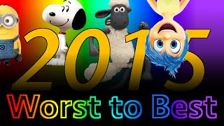 Worst to Best Animated Movies of 2015