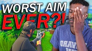 I Have The 'WORST' Aim in Fortnite: Battle Royale!