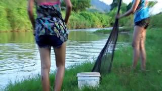 Amazing beautiful girl Fishing in Cambodia - How to Fishing at battambang ( part 239)