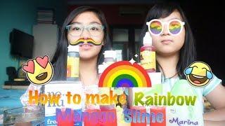 Tutorial Rainbow Jumbo Slime tapi jadinya Malah ...... Slime    Perdebatan Saat Buat SLiMe !!