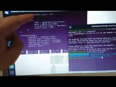 PocketBeagle Board - interagindo com device tree