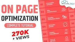 On Page Optimization | On Page SEO | Website Analysis | SEO Tutorial