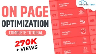 On Page optimization | On page SEO | Website analysis | SEO - Part 4