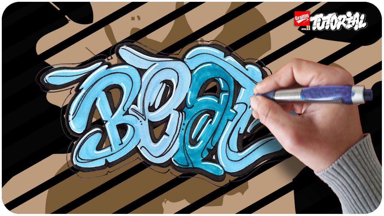beat bubble style graffiti tutorial schritt f r schritt. Black Bedroom Furniture Sets. Home Design Ideas