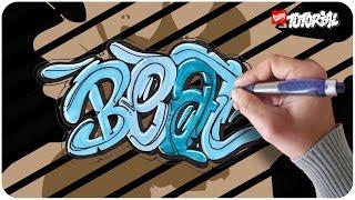 Beat Bubble Style Graffiti Tutorial Schritt für Schritt