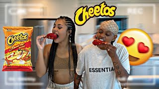 HOT CHEETOS KING CRAB AND FRIED CHICKEN MUKBANG | COOK AND EAT