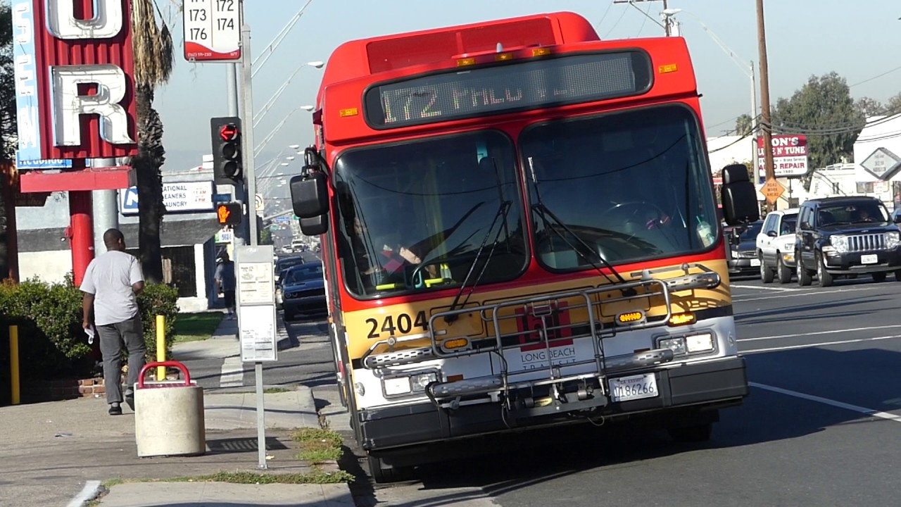 ca long beach transit: 2004 new flyer ge40lf route 172 bus #2404 at