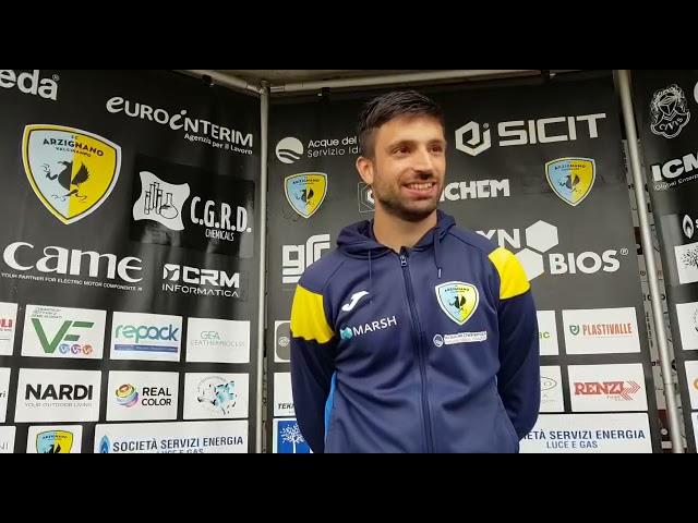 Simone Monni e il gol preannunciato dal presidente Lino Chilese
