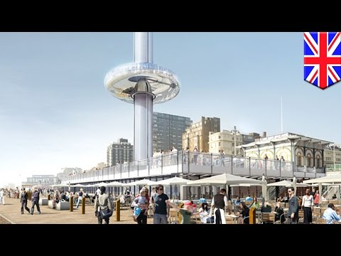 Work begins on the UK's i360, the world's first 'vertical cable car'