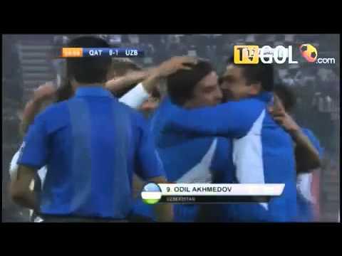 Qatar 0 1 Uzbekistan   Beautiful Goal Odil Akhmedov  40m   First goal Asian Cup 2011