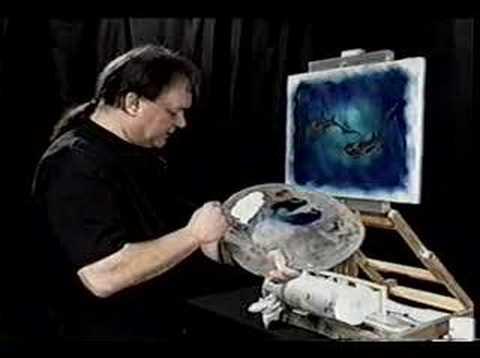 Oil Painting with Jack Kolber-Magic Brush Art -Swimming Free