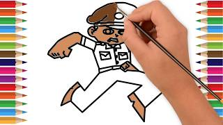 Little Singham Cartoon Character Drawing