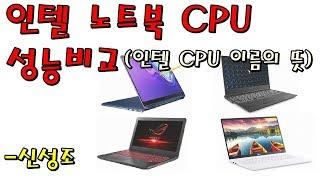 인텔 노트북 CPU 성능비교 (i3~i7) - 신성조