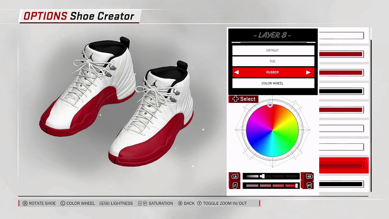 NBA 2K18 Shoe Creator - Air Jordan 12