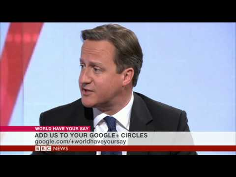 David Cameron on World Have Your Say