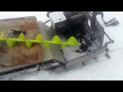 видео: мини снегоход своими руками испытание