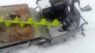 мини снегоход своими руками испытание
