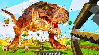 Catching CRAZY DINOSAURS In Minecraft!