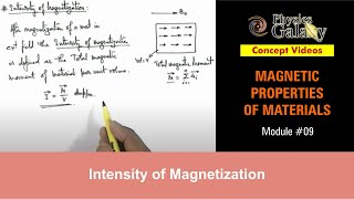9. Class 12 Physics | Magnetic Properties | Intensity of Magnetization | by Ashish Arora