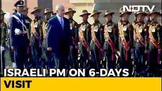 Benjamin Netanyahu Gets Ceremonial Welcome, PM Modi Present