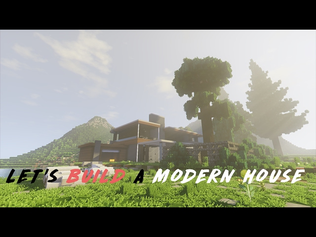 Minecraft: Lets Build a Modern House - Part 3