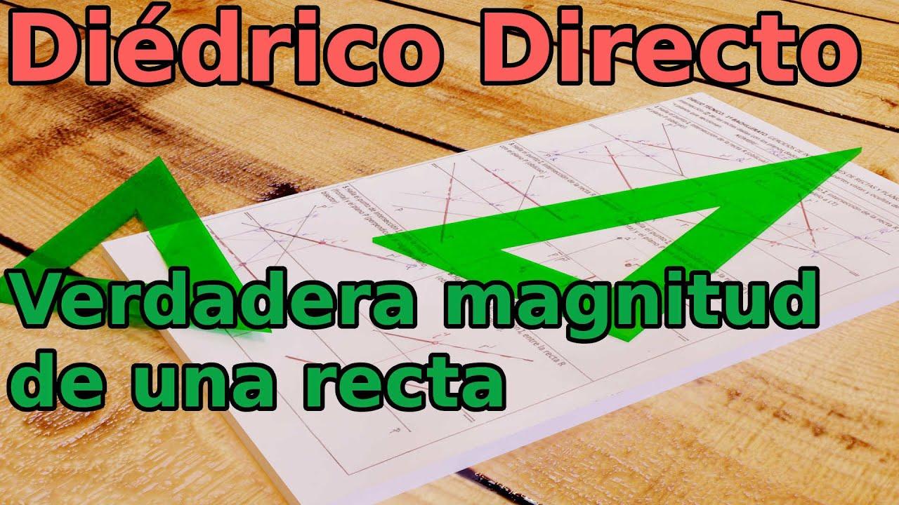 La Verdadera Magnitud: Diédrico Directo: Verdadera Magnitud De Una Recta.