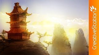 Homeland of Samurai - Speed Painting (#Sketchbook Pro) | CreativeStation