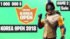 fortnite korea open solo game 2 highlights fortnite tournament 2018 duration 11 50 - wsoe fortnite tournament
