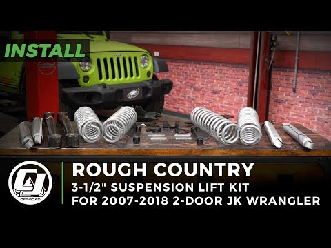 "Jeep JK Wrangler Install: Rough Country 3-1/2"" Suspension Lift Kit with Shocks"