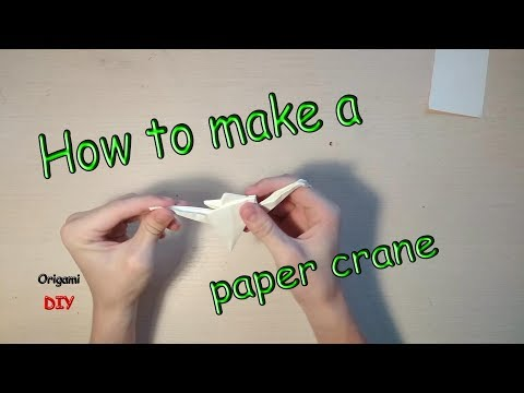 How to make a paper crane. Origami for children