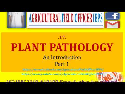 Plant Pathology   Part 1 for AFO 2018, NABARD or Any other A