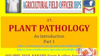 Plant Pathology   Part 1 for AFO 2018, NABARD or Any other Agricultural exams