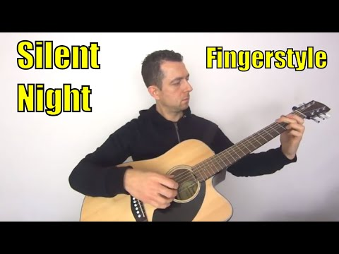 Silent Night Chords, Guitar Tab And PDF - Fingerstyle!