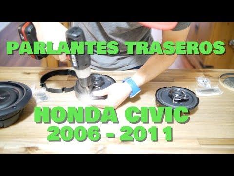 COMO INSTALAR PARLANTES TRASEROS EN UN HONDA CIVIC SI 2006-2011