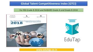 Global Talent Competitiveness Index explained for RBI and NABARD 2018