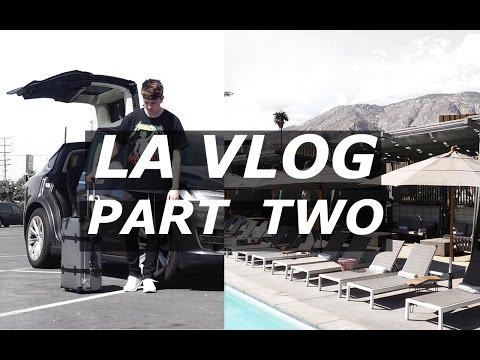 LA VLOG PART 2 | Shopping, Tesla, Palm Springs, Saint Laurent, Sandro, Pacsun | Gallucks
