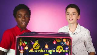 Caleb McLaughlin and Noah Schnapp Play What's In The Box