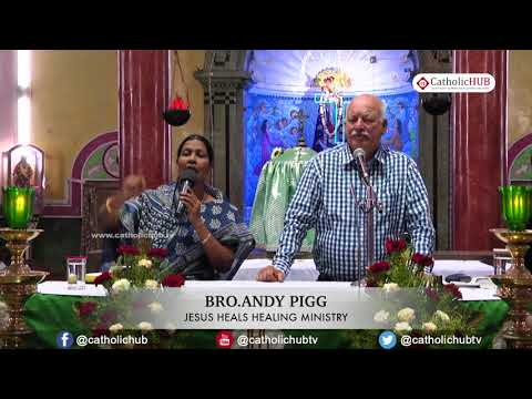 """""""JESUS HEALS"""" by Br Andy pigg, @ Shrine of Our Lady of Good Health,Khairatabad,Hyd,TS,INDIA 28 11 17"""