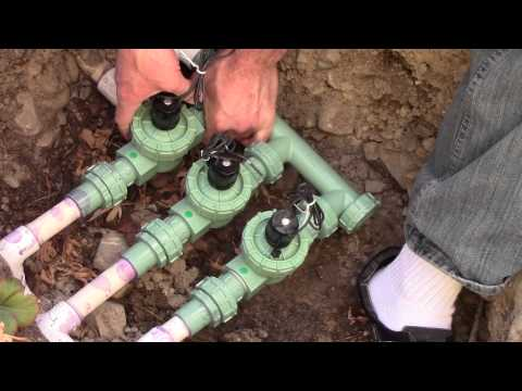 How to install Orbit Automatic Sprinkler Valve System - Grass Lawn