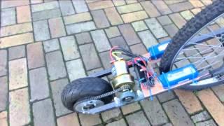 Видео с велосипедами.  Велосипед 10 kW Electric bicycle pusher project Велосипеды(Пишут